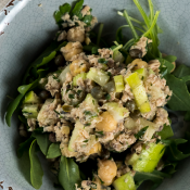 Salmon Salad with Chickpeas